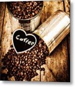 Coffee Shop Love Metal Print