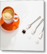 Coffee Sugar Cream Metal Print