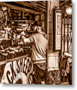 Coffee Time At The Station. Metal Print