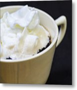 Coffee With Whipped Cream Metal Print