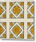 Coffered Ceiling Detail At Getty Villa Metal Print by Teresa Mucha