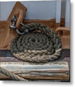 Coiled Rope Metal Print