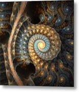 Coiled Spirals Metal Print
