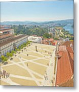 Coimbra University Aerial Metal Print