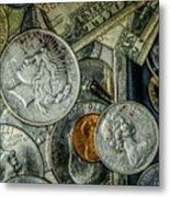 Coins And Bills Metal Print