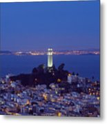 Coit Tower At Dusk San Francisco California Metal Print