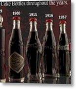 Coke Through Time Metal Print