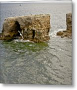 Cold Day At The Seaside. Metal Print