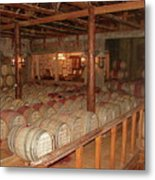 Colchagua Valley Wine Barrels Metal Print