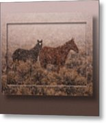Cold And Blowing Snow Metal Print