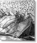 Cold And Broken Metal Print