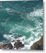 Cold California Waters Metal Print