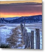 Cold Country Sunrise Metal Print