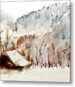 Cold Cove Metal Print
