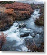 Cold Creek In Autumn Metal Print