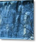 Cold Day Cold Water Fall   Winter In Ny Metal Print