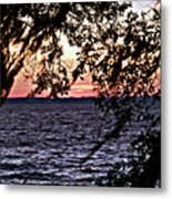 Cold Florida Sunset Metal Print