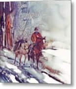 Cold Hunt Metal Print