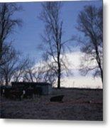 Cold Iowa Evening Metal Print