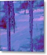 Cold Night Falling Metal Print