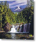 Cold Water Falls Metal Print