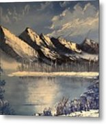 Cold Winter Lake Metal Print