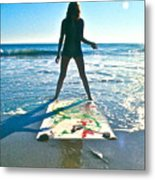 Collaborating With The Ocean Metal Print