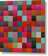 Collage Color Study Fuchsia Metal Print