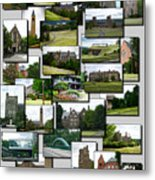 Collage Cornell University Ithaca New York Vertical 02 Metal Print