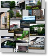 Collage Ithaca College Ithaca New York Vertical Metal Print