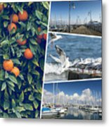 Collage Of Cyprus Images Metal Print