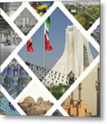 Collage Of Iran Images  Metal Print