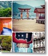 Collage Of Japan Images Metal Print