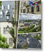 Collage Of Luxembourg Images Metal Print
