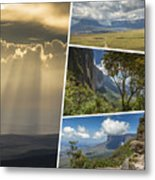 Collage Of Table Mountain Roraima  Metal Print