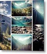Collage Of Tatra Mountains  Metal Print