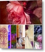Collage So Rosey Metal Print