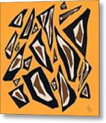 Collage Yellow Black Brown Metal Print