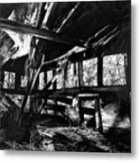 Collapsed Roof Metal Print