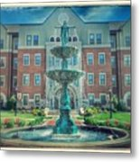 College Fountain Metal Print