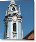 Collegiate Church Blue Tower Metal Print