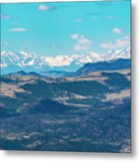 Collegiate Peaks From Little Grouse Mountain Metal Print