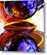 Colliding Forces Abstract Metal Print