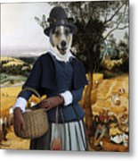 Collie Smooth - Smooth Collie Art Canvas Print - The Harvesters Metal Print