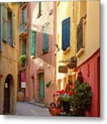 Collioure Alley Metal Print