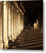 Collonade At San Marco In Venice In The Morning Metal Print