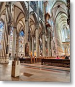 Cologne Cathedral Interior Metal Print
