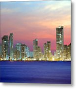 Colombia. Cartagena. The City At Night. Metal Print