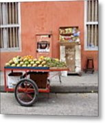Colombia Fruit Cart Metal Print