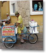 Colombia Srteet Cart II Metal Print
